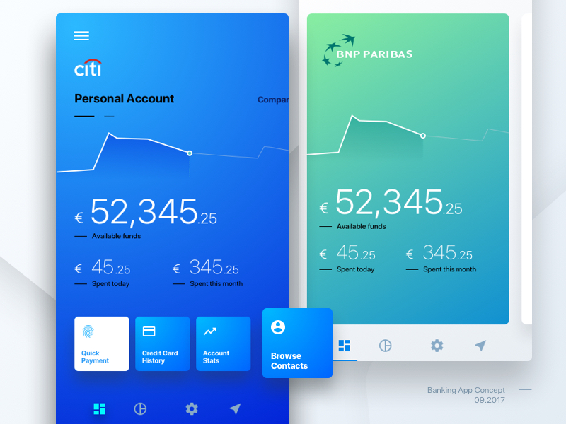 Banking App Concept by Tom Koszyk