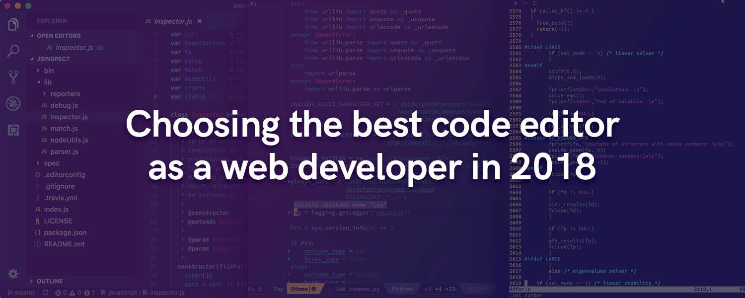 Choosing the best code editor as a web developer in 2018