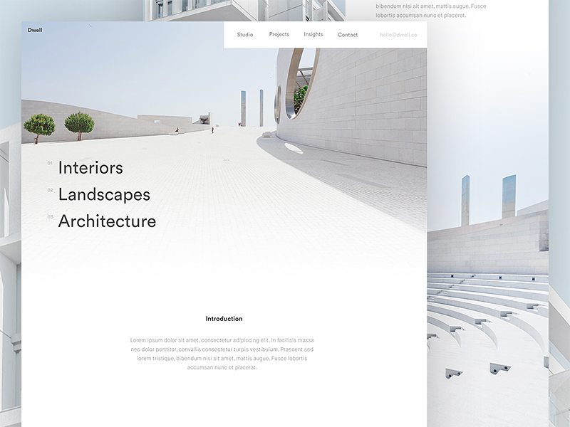 Dwell Homepage / Day 04 by Nathan Riley