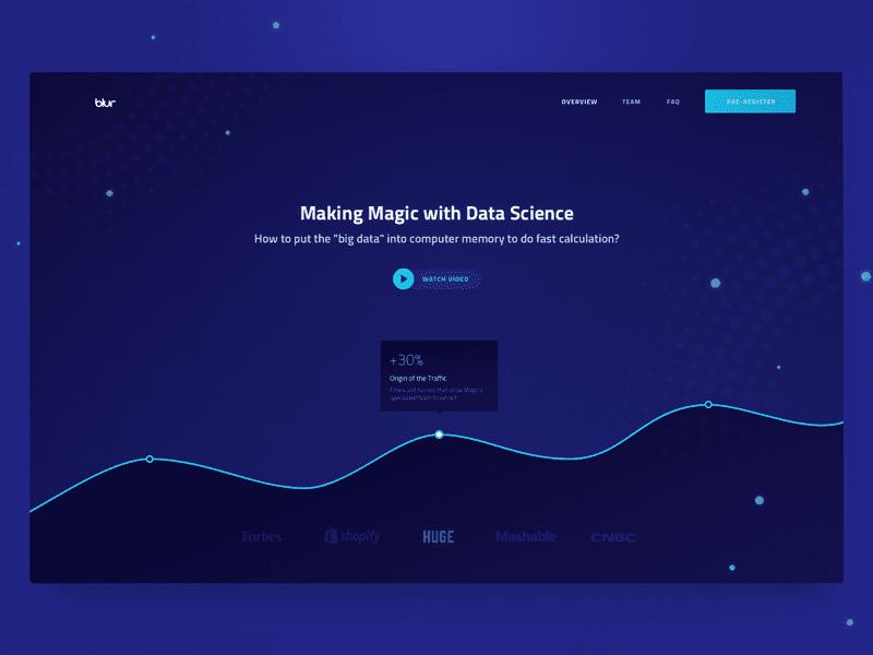 Homepage Design for Magic Data Analytics Company by Kostya Vargatiuk