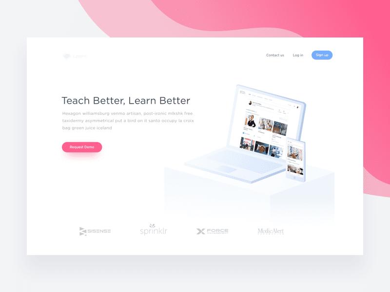 Landing Page - education by Iftikhar Shaikh