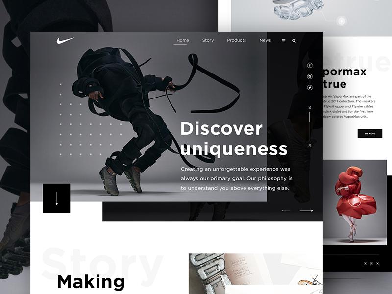 Nike VaporMax - Homepage by Vladimir Biondic
