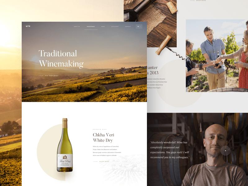 Winery - Landing Page by Martin Strba